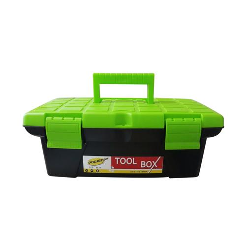 Powerplus Toolbox Besar / Kotak Perkakas Plastik Hijau