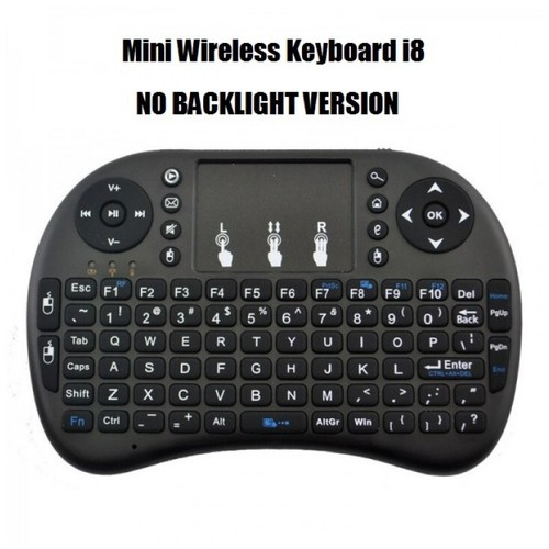 i8 - Mini Wireless Keyboard and Touchpad with NO BACKLIGHT Color Black