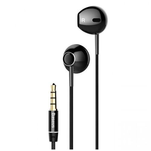 BASEUS ENCOK H06 - 3.5mm In-ear HIFI 6D Stereo Bass Wired Earphone Black [TKU]