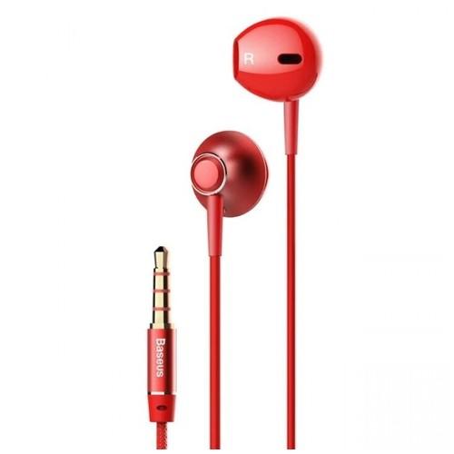 BASEUS ENCOK H06 - 3.5mm In-ear HIFI 6D Stereo Bass Wired Earphone Red [TKU]