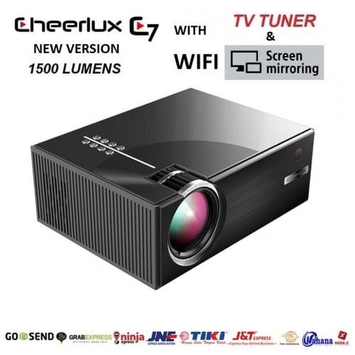 CHEERLUX C7 WiFi and TV Tuner - Mini LED Projector 1500 Lumens 1080p [TKU]