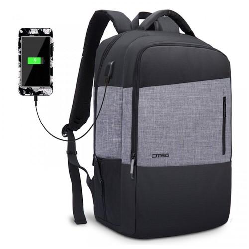 DTBG D8221W 17.3 Inch Slim Laptop Backpack USB Port Bag Black [TKU]