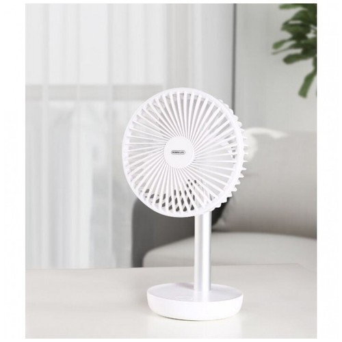 REMAX RL-FN09 - 7-inch Oscillating Portable Desk Fan Rechargeable White [TKU]