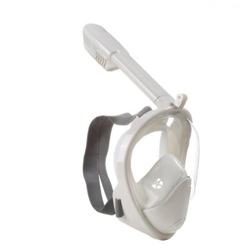 Full Face Snorkeling Scuba Mask L-XL Size - GoPro Compatible - M2098G White [TKU]