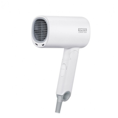 XIAOMI SMATE Mini Folding Hair Dryer - 1000W Ultra Ions 2 Speeds White [TKU]