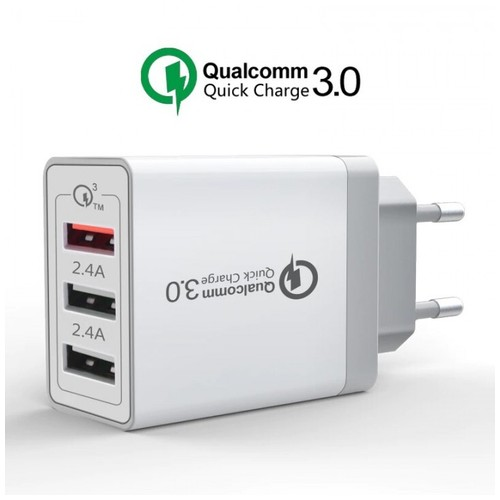 SDC-30W - Qualcomm QC3.0 - 3 USB Port Charger - EU Plug