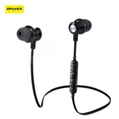 AWEI A980BL Bluetooth 4.0 Wireless Sports Earphones with Handsfree Songs Track Function Black [TKU]