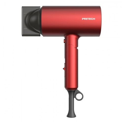 PRITECH CF3 - Folding Negative Ion High Power Hair Dryer 1400W Red [TKU]