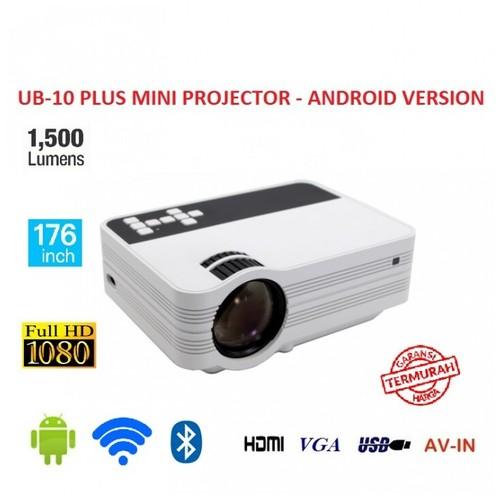 UB-10 Plus Mini LCD Projector Android 1500 Lumens - WiFi and Bluetooth [TKU]
