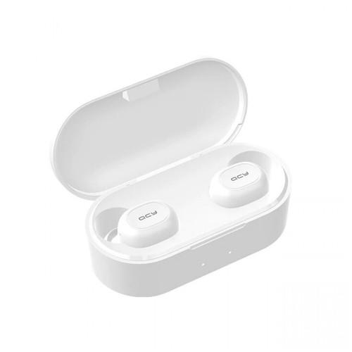 QCY T2C Binaural Mini Bluetooth V5.0 Earphone TWS with Charging Box White [TKU]