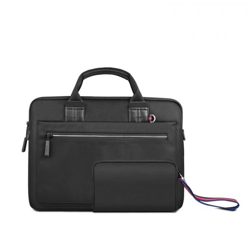 WIWU ATHENA 14 inch Carrying Slim Portable Laptop Bag and Small Case Black [TKU]