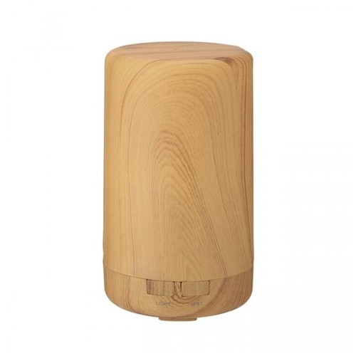 U12 - Humidifier Essential Oil Diffuser Purifier LED Light 100ml Brown [TKU]