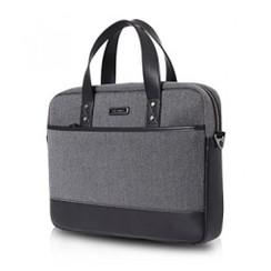 GEARMAX PREMIUM GM4021 13.3 Inch Mens Black Slim Laptop Messenger Bag Shoulder Bag Carry Case Handbag - Black [TKU]