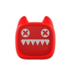 Original MR LEAF DEVIL CAT Z1 Mini Cartoon Portable Bluetooth Bass Cannon Wireless Audio Speaker Red [TKU]