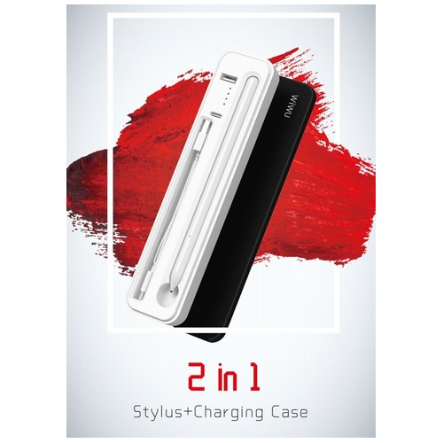 WIWU 2-in-1 Stylus and Wireless Charging Case 3000mAh Built-in Battery