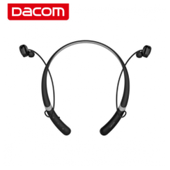 Original DACOM L02 Sport Water-proof Dual Dynamic Neckband Mic Bluetooth Earphone Headphone Black Grey [TKU]