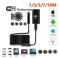 5M Wifi Endoscope Camera Android 720P Iphone Borescope Waterproof Camera Endoscopic Android iOS [TKU]