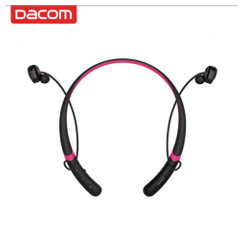 DACOM L02 Sport Water-proof Dual Dynamic Neckband Mic Bluetooth Earphone Headphone Black Rose Red [TKU]