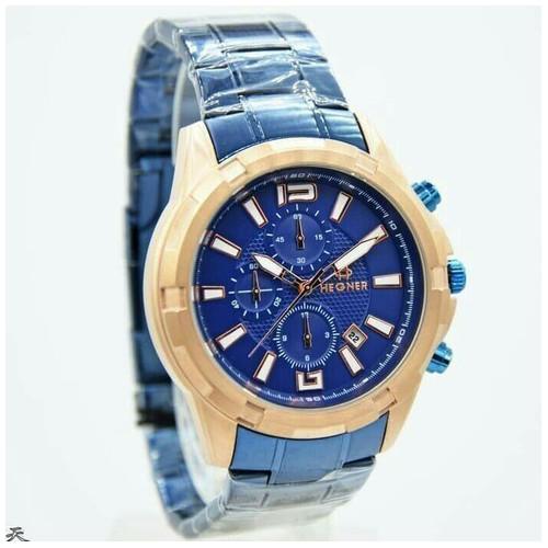 Hegner Jam Tangan Pria 1652 blue