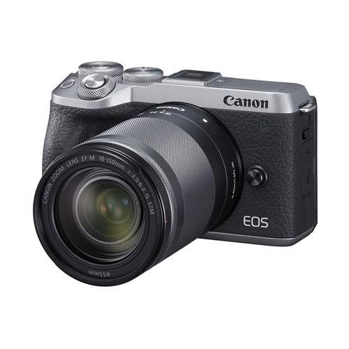 Canon EOS M6 Mark II Mirrorless Digital Camera with Lens 18-150mm - Silver EOSM6IIL150S