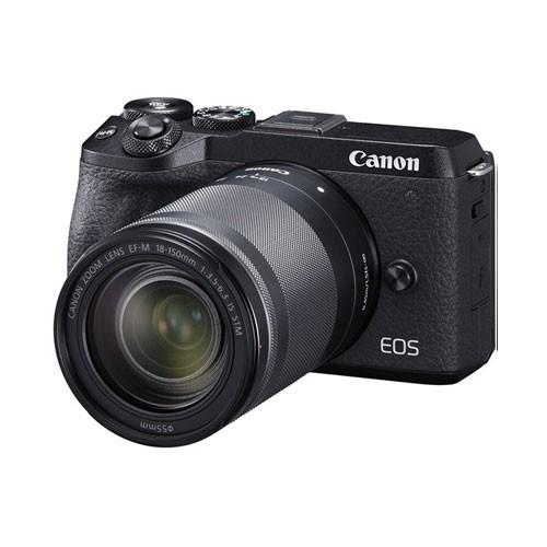 Canon EOS M6 Mark II Mirrorless Digital Camera with Lens 18-150mm - Black EOSM6IIL150B