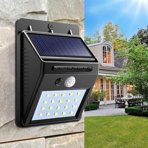 Lampu Dinding Teras Tenaga Matahari 20 LED Solar Sensor Gerak