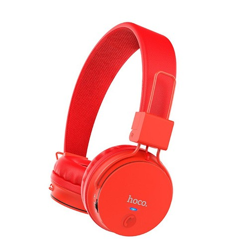 HOCO W19 Headphone Wireless and Wired Pro Gaming Music Streaming Headset Bluetooth - Red