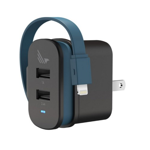 WildFlag Wall Charger 2 Pport A+L, USB A 5W + Lightning 12W