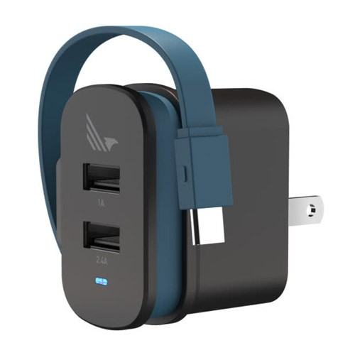 WildFlag Wall Charger 2 Port A+C, USB A 5W + USB Type C 12W