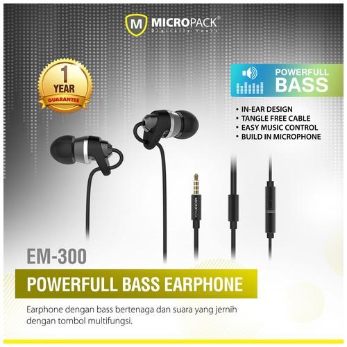 MicroPack Earphone EM-300 - Black