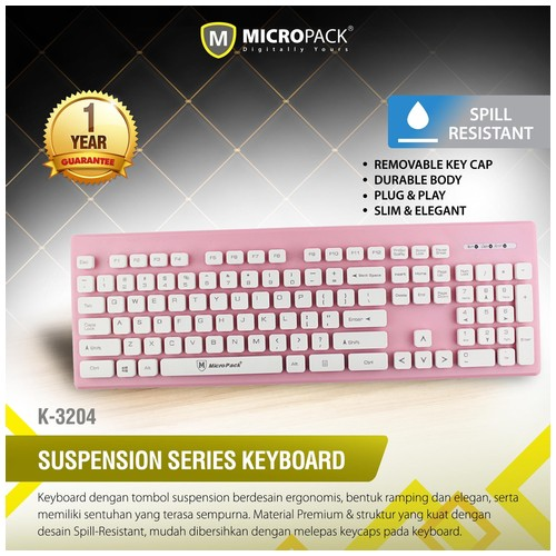 MicroPack Keyboard K3204 - Pink