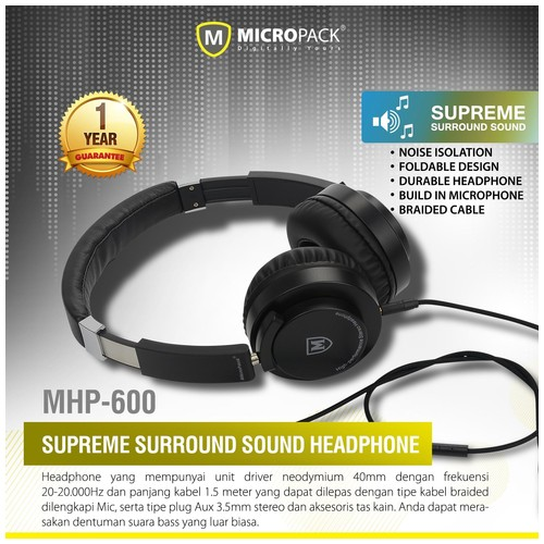 Micropack Headphone [MHP-600]