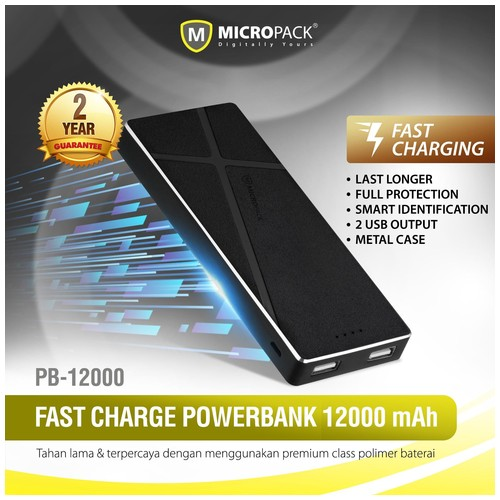 MicroPack Power Bank PB-7200 - Black