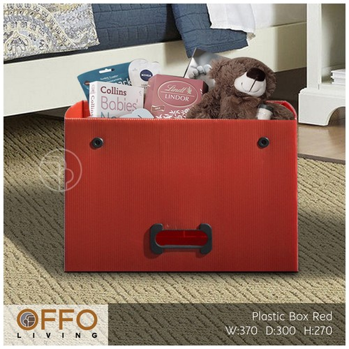 Offo Living - Kotak Plastik Serba Guna - Drawer Plastic RSS262610 RED