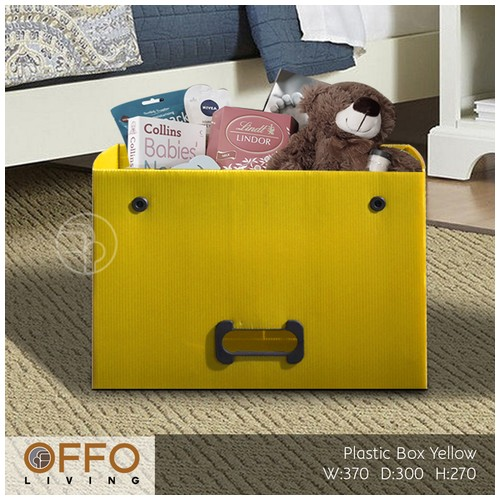 Offo Living - Kotak Plastik Serba Guna - Drawer Plastic RSS262610 Yellow