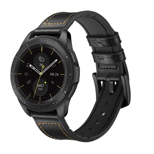 Hybrid Leather Series for Smartwatch 22mm Black