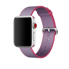 Nylon Woven Series for Apple Watch 38-40mm Berry Check