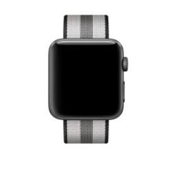 Nylon Woven Series for Apple Watch 38-40mm Black Stripe