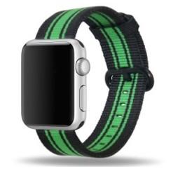 Nylon Woven Series for Apple Watch 38-40mm Black Green