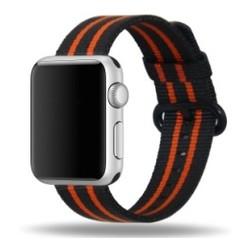 Nylon Woven Series for Apple Watch 38-40mm Black Orange