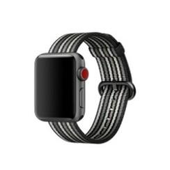 Nylon Woven Series for Apple Watch 38-40mm Black Gray