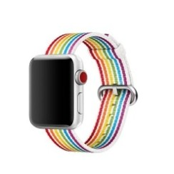 Nylon Woven Series for Apple Watch 38-40mm Colorful Stripe