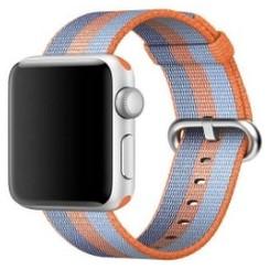 Nylon Woven Series for Apple Watch 38-40mm Oranger Blue