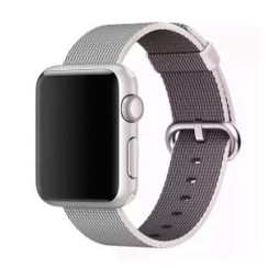 Nylon Woven Series for Apple Watch 38-40mm Pearl White