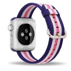 Nylon Woven Series for Apple Watch 38-40mm Pink Stripe