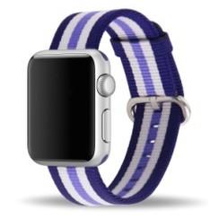 Nylon Woven Series for Apple Watch 38-40mm Purple Stripe