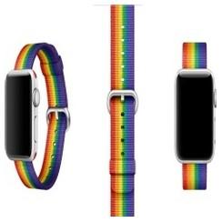Nylon Woven Series for Apple Watch 38-40mm Rainbow