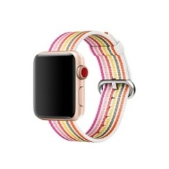 Nylon Woven Series for Apple Watch 38-40mm White Pink