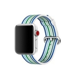 Nylon Woven Series for Apple Watch 38-40mm White Blue