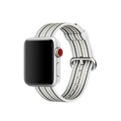 Nylon Woven Series for Apple Watch 38-40mm White Gray